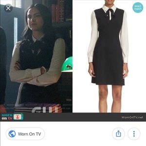 Kate Spade bowtie crepe dress as seen on Riverdale